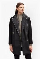 French Connection Bertie Biker Wool Coat