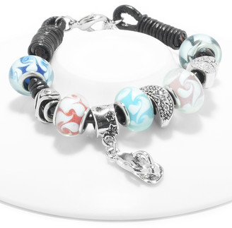 Swarovski Golden Moon Women's Bracelets Pastel - Pastel Sandal & Charm Bead Bracelet With Crystals
