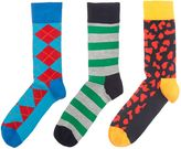 Happy Socks 3 Pack Hs Argyle Stripe Paisley Socks