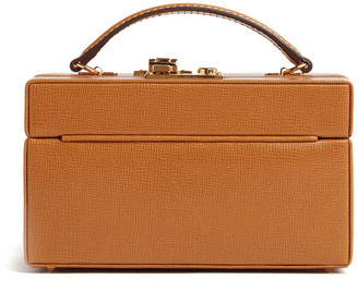 Mark Cross 1845 Mini Leather Trunk Top Handle Bag