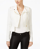 Material Girl Juniors' Peplum Moto Jacket, Only at Macy's