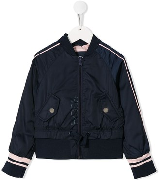 Boss Kids stripe detail bomber jacket