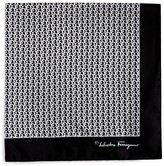 Salvatore Ferragamo Large Connecting Gancini Print Pocket Square