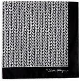 Salvatore Ferragamo Link Print Pocket Square