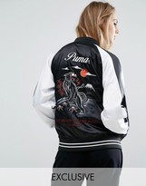 Puma Souvenir Satin Jacket In Black