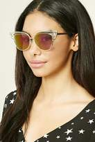 Forever 21 Clear Cat Eye Sunglasses