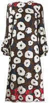 Talbot Runhof printed midi dress