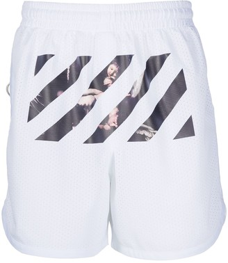 Off-White Caravaggio diag stripe shorts