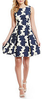 Vince Camuto Outline Floral Fit-and-Flare