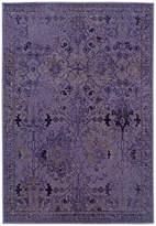"""Oriental Weavers Area Rug, Revamp REV7802M Violet 1'10"""" x 7'6"""" Runner Rug"""