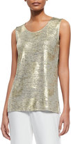 Caroline Rose Luminous Long Tank, Gold/Multi