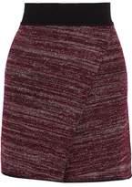 Isabel Marant Cashlin Wrap-Effect Stretch-Knit Mini Skirt