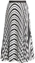 Sacai Striped Pleated Poplin Skirt