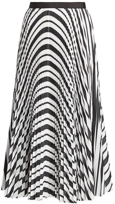 Sacai Striped Pleated Poplin Skirt