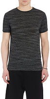 Barneys New York MEN'S MÉLANGE T-SHIRT-BLACK SIZE XS