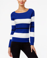 INC International Concepts Striped Boat-Neck Sweater, Only at Macy's