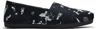Toms Black Alien Galaxy Glow In The Dark Women's Classics