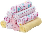 SpaSilk Soft Terry Washcloth Set - Pink Circles - 10 ct