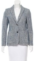 Piazza Sempione Wool Button-Up Blazer
