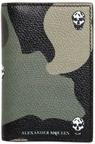 Alexander McQueen Camouflage Printed Folded Card Holder