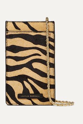 Loeffler Randall Augusta Tiger-print Calf Hair Shoulder Bag - Zebra print