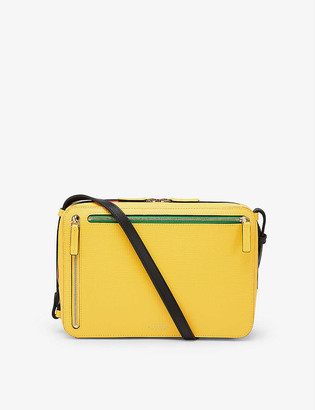 Smythson Panama sliding strap crossgrain leather cross-body bag
