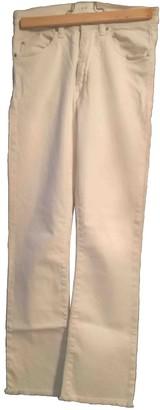 IRO White Cotton Jeans