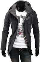 Fine-men clothes Fine Mens Military Style Hipster Hooded Long Sleeve Jacket Coat XXL