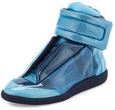 Maison Margiela Future Transparent High-Top Sneaker, Blue
