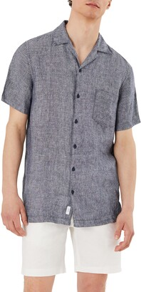 Onia Short Sleeve Button-Up Dobby Camp Shirt