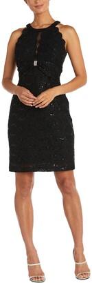 Nightway Lace Illusion-Detail Dress