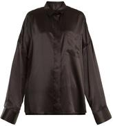 Haider Ackermann Dali patch-pocket silk-satin shirt