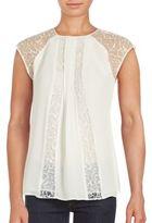 Kay Unger Jewelneck Sleeveless Silk Top