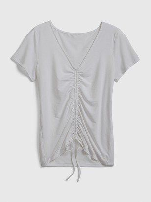 Gap GapFit Breathe Ruched V-Neck T-Shirt