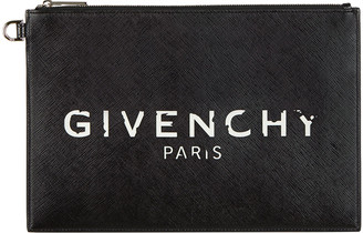 Givenchy Iconic Prints Flat Medium Pouch Clutch Bag