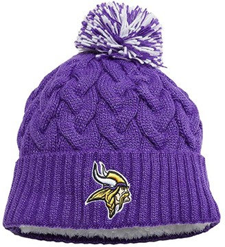 New Era NFL Cozy Cable Knit -- Minnesota Vikings (Purple) Beanies