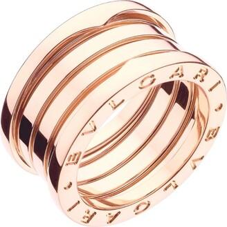 Bvlgari Rose Gold Four-Band B.Zero1 Ring
