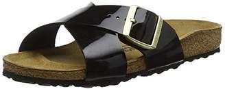 Birkenstock Siena, Women's Heels Open Toe Sandals, Black (Noir Noir), (37 EU)