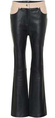 Stand Studio Grace leather bootcut pants