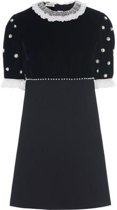Miu Miu Cady and velvet party dress