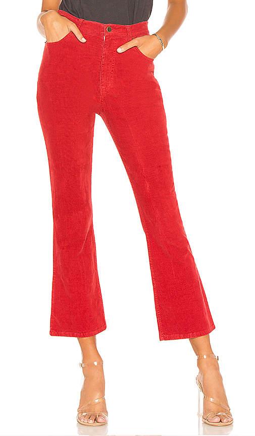 Pam & Gela Crop Slim Flare Corduroy Pant