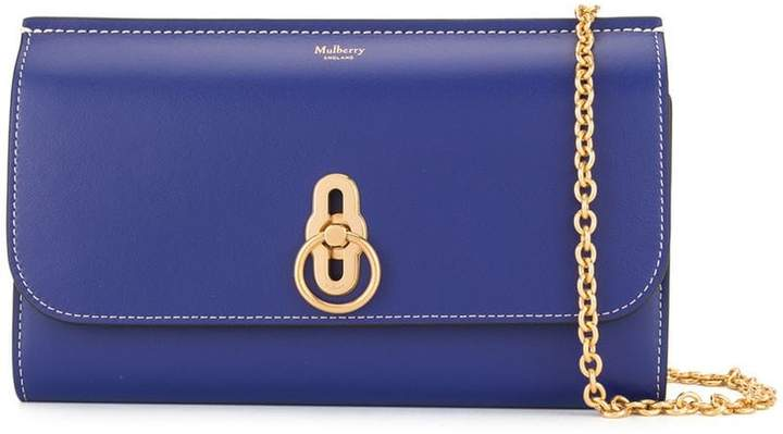 Mulberry smooth Amberley clutch
