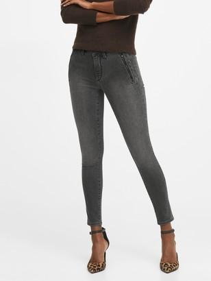 Banana Republic Petite Mid-Rise Skinny Zip Pocket Jean