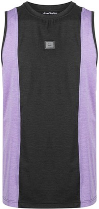 Acne Studios Face patch panelled tank top