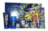 Christian Audigier Ed Hardy Love and Luck Love is a Gamble 4 Piece Gift Set for Men, 3.4 Ounce