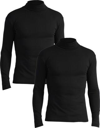 Lower East Slim Fit Rollkragen Shirt Turtleneck Black Schwarz) XX-Large (size: 2XL) Pack of 2