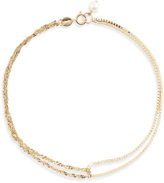 Poppy Finch 14k Gold Double Mixed Chain Bracelet