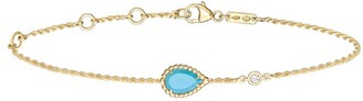 Boucheron Yellow Gold, Diamond and Turquoise Serpent Boheme Bracelet