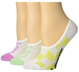 Vans Rainy Day Check Canoodles 3-Pack (Multi) Women's No Show Socks Shoes