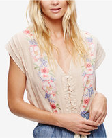 Free People Cotton Gardenia Blouse